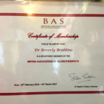 member of British Association of Sclerotherapists